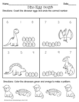 Cut-and-Paste Counting {Dinosaurs}