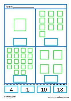 Cut and Paste Counting Worksheets, Autism & Special Education Math