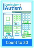 Counting to 20 Worksheets Autism Special Education Cut and Paste