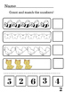 Cut and Paste Counting worksheet