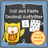 Cut and Paste Decimal Activities (with a Fall Theme)