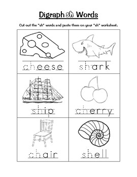 Cut and Paste Digraph Book (150 followers freebie!)