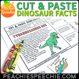 Cut and Paste Dinosaur Facts Stories and WH Questions