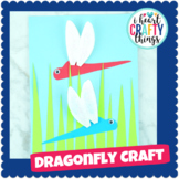 Cut and Paste Dragonfly Craft - Insect Craft Activity