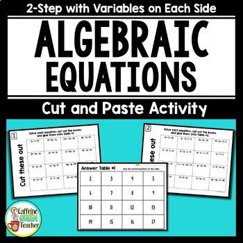 Simplifying Equations Self Checking Activity - NO PREP