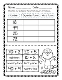 Cut and Paste Expanded and Word Form-Two Digits (2)