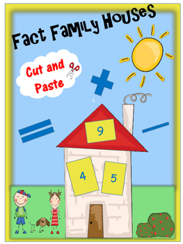 Cut and Paste Fact Family Houses