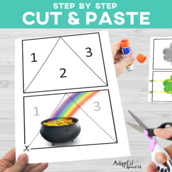 Cut and Paste Fine Motor: March