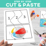 Cut and Paste Fine Motor: Summer