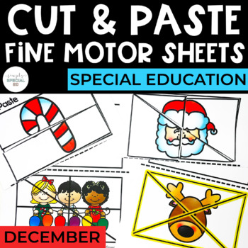 Cut and Paste Fine Motor Sheets: December