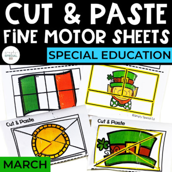 Cut and Paste Fine Motor Sheets: March