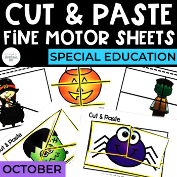 Cut and Paste Fine Motor Sheets: October
