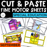 Cut and Paste Fine Motor Sheets: September