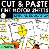 Cut and Paste Fine Motor Sheets: Spring