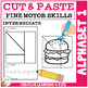 Cut and Paste Fine Motor Skills Puzzle Worksheets: Alphabet 1