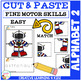 Cut and Paste Fine Motor Skills Puzzle Worksheets: Alphabet 2