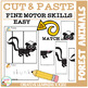 Cut and Paste Fine Motor Skills Puzzle Worksheets: Forest Animals