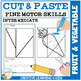 Cut and Paste Fine Motor Skills Puzzle Worksheets: Fruit & Vegetable