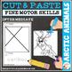 Cut and Paste Fine Motor Skills Puzzle Worksheets: BUNDLE 2