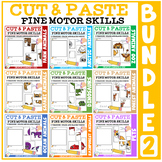Cut and Paste Fine Motor Skills Puzzle Worksheets: BUNDLE 2