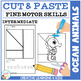 Cut and Paste Fine Motor Skills Puzzle Worksheets: Ocean Animals