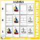 Cut and Paste Fine Motor Skills Worksheets: Transportation Puzzles