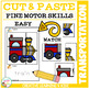 Cut and Paste Fine Motor Skills Puzzle Worksheets: Transportation