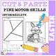 Cut and Paste Fine Motor Skills Worksheets: Easter Puzzles