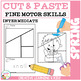 Cut and Paste Fine Motor Skills Worksheets: Spring Puzzles