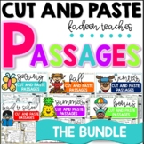 CUT and Paste Fluency Passages (Sight Word Edition Bundle) Distance Learning