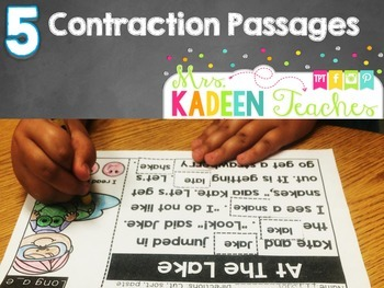 Cut and Paste Fluency Passages(Grammar Edition -contractions)