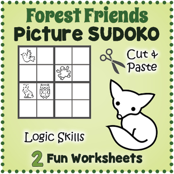 Easy Sudoku Puzzles Forest Animal Worksheets