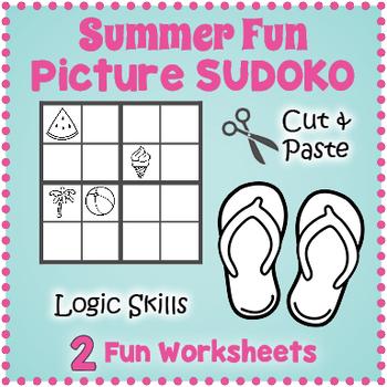 Summer Sudoku Puzzle Summer Worksheets Summer Puzzles