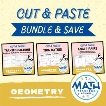 Cut and Paste - Geometry Activity Bundle