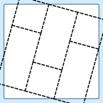 Cut and Paste Grids (Dashed / Dotted Lines) Clip Art Set for Commercial Use