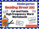 Cut and Paste High Frequency Word Worksheets