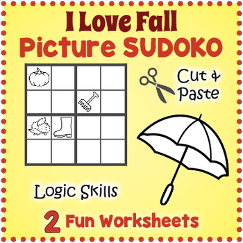 Fall Sudoku Puzzle Fall Worksheets Autumn Worksheets By Puzzles
