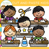 Kids Cut and Paste Art Center Clip Art