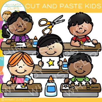 Kids Cut and Paste Clip Art
