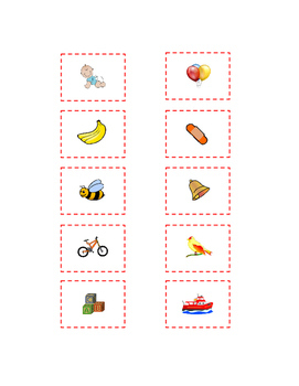Cut and Paste Kindergarten 10 Letter B Sight Words Pictures ELA Literacy 2 pages