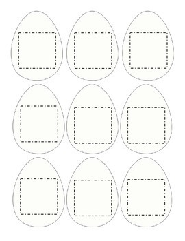 Cut and Paste Kindergarten Easter Eggs Baskets Bunny Chicks