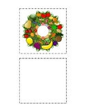 Cut and Paste Large Kindergarten Food Groups Wreath Arts and Crafts Winter