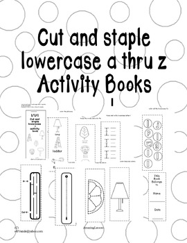 Cut and Paste Lowercase l Activity Book