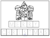 CHRISTMAS Poster Cut and Paste Letters FREE
