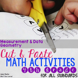 Cut and Paste Math Activities for Fourth Grade {MD & G} NO PREP