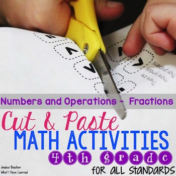 Cut and Paste Math Activities for Fourth Grade {NF} NO PREP