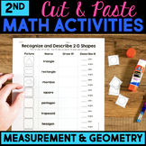 Cut and Paste Math Activities for Second Grade Measurement & Geometry