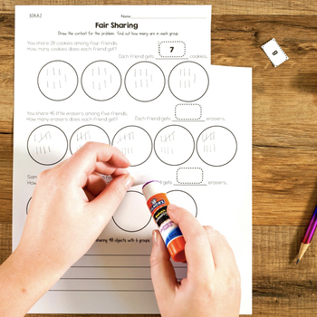 Cut and Paste Math Activities for Third Grade {Most Standards} NO PREP