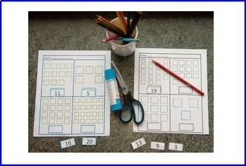 Cut and Paste Math BUNDLE, Count, Add, Subtract, Autism Special Education