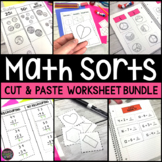 Cut and Paste Math Sorts Bundle